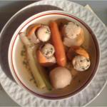 Nage de Coquilles Saint Jacques - Coriandre - Citronnelle - Légumes