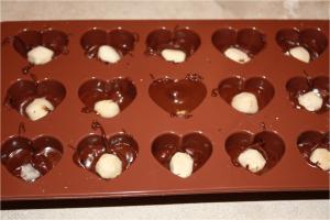 Plaques de chocolats praliné aux noisettes