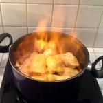 Poulet coco - poulet qui flambe