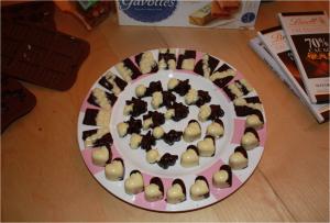 Chocolats de Pâques - Noir et Blanc - Noisettes - Gavottes - Nutella