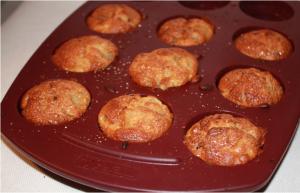 Muffins poire chocolat à la sortie du four