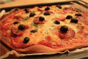 Pizza Chorizo - Poivrons