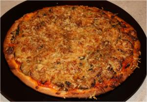 Pizza Oignons Courgettes Emmental