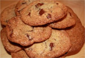 Cookies croustillants pépites de chocolat