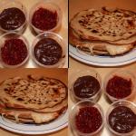Crêpes - pâte à tartiner ou confiture de framboises
