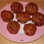 Mini muffins chocolat blanc framboises