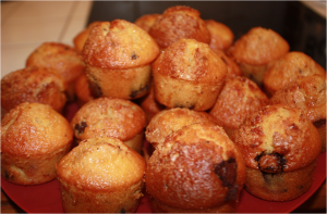 Muffins orange - ppites de chocolat