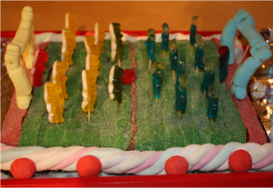 Terrain de foot en bonbons - Schtroumpfs-Crocodiles