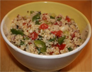 Salade quinoa, faon taboul