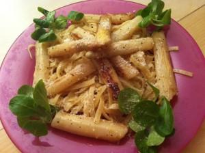 Pâtes asperges-parmesan