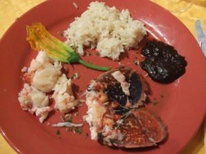 Homard - queue de homard à la crème