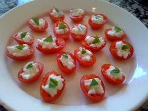 Tomates Cerise à la mozzarella